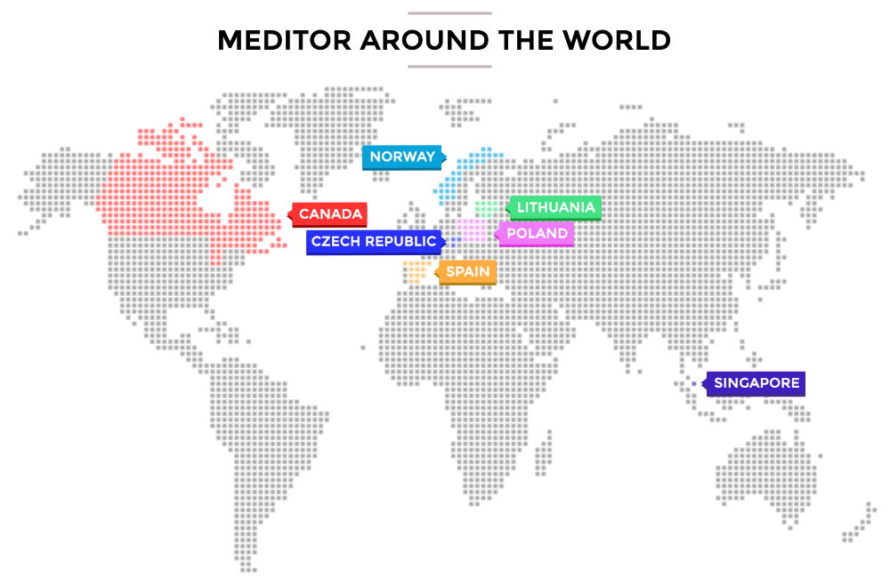Meditor around the world